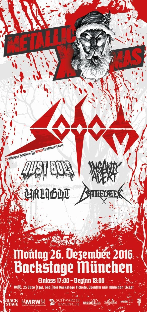 Metallic X-Mas 2016 Flyer