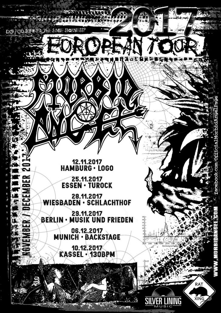 Morbid Angel Tourposter mit Dates V2